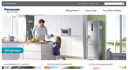 Panasonic Home Appliance Web Design Portfolio Sebcreation